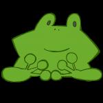 カエルのお面