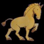 淡い線の馬
