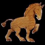 クッキーみたいな色の馬