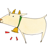 ベルをつけたヤギ