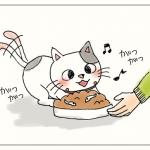 ご飯を食べるいくら(猫)