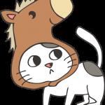 馬の帽子をかぶった猫(いくら)