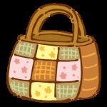 バッチワークのバッグ