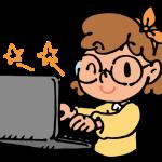 ノートパソコンを使う女の子1