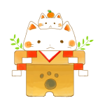 鏡餅猫ちゃん