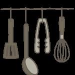 壁掛けのキッチン用品