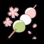 桜と三色団子