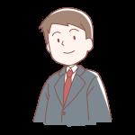 灰色のスーツを着た男の人