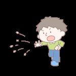 豆を投げる男の子