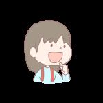 豆を食べる女の子