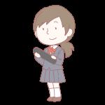 卒業生の女の子(ブレザー)