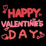 「HAPPY VALENTINE'S DAY」文字