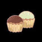 2種類のカップケーキ