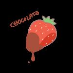 チョコレートがついた苺