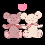 2匹のクマのぬいぐるみ