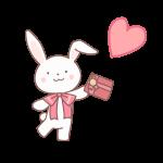 プレゼントをもつウサギ