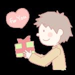 プレゼントを渡す男の子