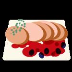 ベリーソースのステーキ