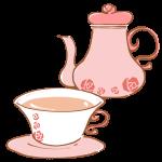 薔薇のカップで紅茶