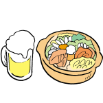 鍋とビール