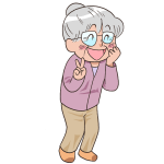 おばあちゃん笑顔