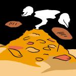 落ち葉で焼き芋