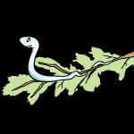 木の枝と蛇