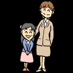 入学式の母と子