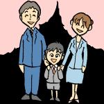 入学式の親子