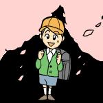 入学式の男の小学生