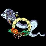 龍と正月飾り