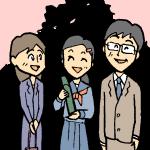 卒業式親子