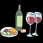 ワインとチーズとオリーブ