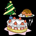 ケーキとツリー