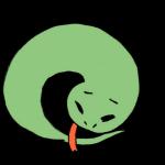しょんぼりする蛇