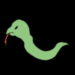 横向きの蛇