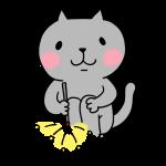 ネコと線香花火