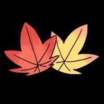 赤と黄色の紅葉