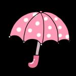 ピンク水玉の傘