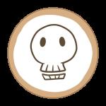 アイシングクッキー(ガイコツ)