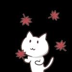 猫ともみじ