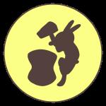 餅つきウサギ