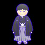 紋付袴の成人男性