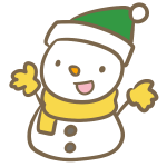 サンタ帽子の雪だるま(緑)