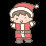 サンタ服の男の子