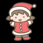 サンタ服の女の子