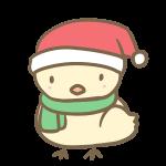 サンタ帽子のひよこ