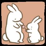 母の日(ウサギ)
