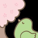 桜に癒される小鳥