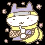 桜吹雪とネコ忍者